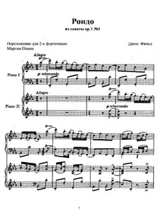 Sonatas for Piano, H.8 Op.1: Sonata No.1 in E Flat Major. Rondo for two pianos four hands by John Field