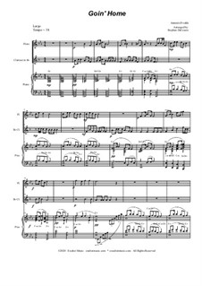 Movement II (Largo): Duet for flute and Bb-clarinet by Antonín Dvořák