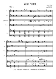 Movement II (Largo): For woodwind quartet and piano by Antonín Dvořák