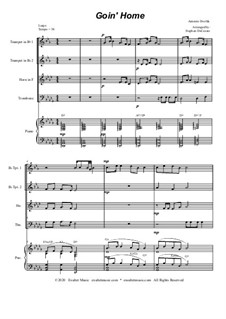 Movement II (Largo): For brass quartet and piano by Antonín Dvořák