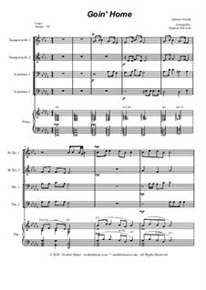 Movement II (Largo): For brass quartet and piano - alternate version by Antonín Dvořák