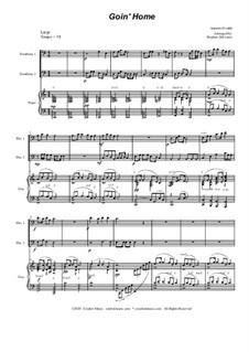 Movement II (Largo): Trombone duet by Antonín Dvořák