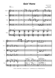 Movement II (Largo): For string quartet and piano by Antonín Dvořák