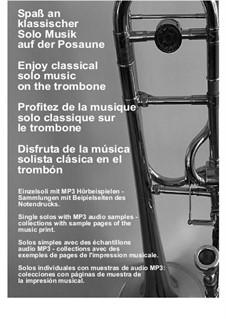 Sonata for Flute in A Minor, H 562 Wq 132: Adagio, for trombone solo by Carl Philipp Emanuel Bach