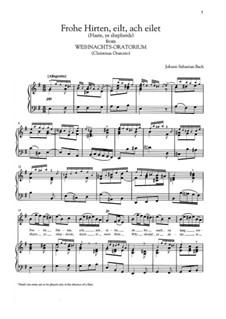 No.15 Frohe Hirten, eilt, ach eilet: Para vocais e piano by Johann Sebastian Bach