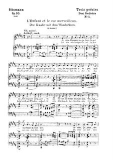 Three Poems, Op.30: No.1 Der Knabe mit dem Wunderhorn (Boy's Magic Horn) by Robert Schumann