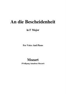 Verdankt sei es dem Glanz (An die bescheidenheit), K.392 (340a): F Maior by Wolfgang Amadeus Mozart