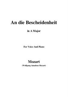 Verdankt sei es dem Glanz (An die bescheidenheit), K.392 (340a): A maior by Wolfgang Amadeus Mozart