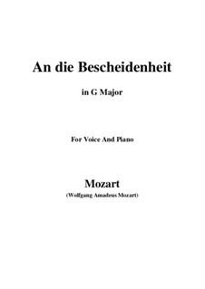 Verdankt sei es dem Glanz (An die bescheidenheit), K.392 (340a): G maior by Wolfgang Amadeus Mozart