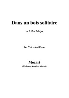 Dans un bois, K.308: A flat Major by Wolfgang Amadeus Mozart