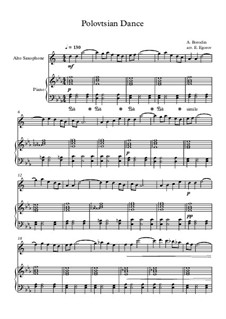 10 Easy Classical Pieces for Alto Saxophone and Piano Vol. 2: Polovtsian Dance by Johann Sebastian Bach, Henry Purcell, Georges Bizet, Ludwig van Beethoven, Edvard Grieg, Alexander Borodin, Pyotr Tchaikovsky, Franz Xaver Gruber