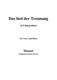 Trennungslied, K.519: F sharp minor by Wolfgang Amadeus Mozart