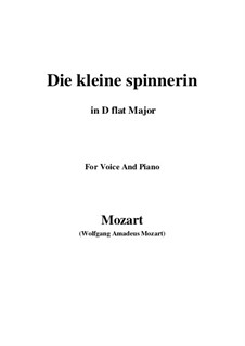 Die kleine Spinnerin, K.531: D flat Major by Wolfgang Amadeus Mozart