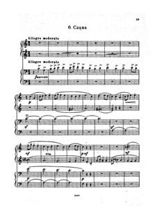 Six Morceaux pour le piano à quatre mains, Op.11: Слава by Sergei Rachmaninoff