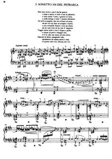 Deuxième année. Italie, S.161: No.5 Sonetto 104 del Petrarca by Franz Liszt