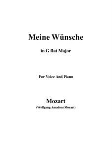 Ich möchte wohl der Kaiser sein (Meine wünsche), K.539: G flat Major by Wolfgang Amadeus Mozart