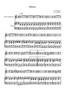 10 Easy Classical Pieces For Tenor Saxophone & Piano Vol.3: Arioso by Edward MacDowell, Johann Strauss (Sohn), Johannes Brahms, Georg Friedrich Händel, Felix Mendelssohn-Bartholdy, Robert Schumann, Muzio Clementi, Giuseppe Verdi, Anton Rubinstein, Johan Halvorsen