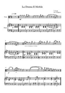 10 Easy Classical Pieces For Viola & Piano Vol.3: La Donna E Mobile by Edward MacDowell, Johann Strauss (Sohn), Johannes Brahms, Georg Friedrich Händel, Felix Mendelssohn-Bartholdy, Robert Schumann, Muzio Clementi, Giuseppe Verdi, Anton Rubinstein, Johan Halvorsen