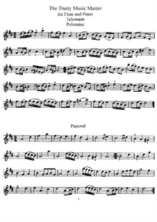 The Trusty Music Master for Flute and Piano: parte Solo by Georg Philipp Telemann