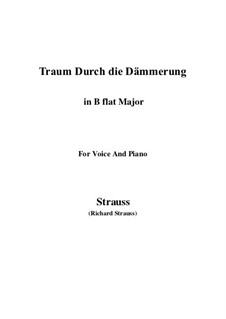 No.1 Traum Durch die Dämmerung: B flat Maior by Richard Strauss