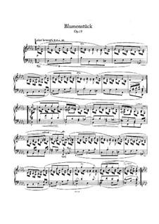 Blumenstück (Flower Piece), Op.19: Para Piano by Robert Schumann