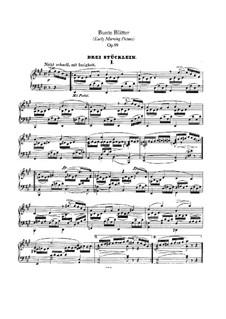 Bunte Blätter (Colored Leaves), Op.99: set completo by Robert Schumann