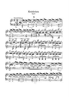 Kreisleriana, Op.16: para um único musico (Editado por H. Bulow) by Robert Schumann