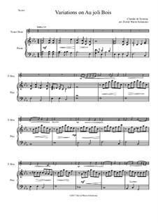 Au joli bois for tenor horn (horn in E flat) and piano: Au joli bois for tenor horn (horn in E flat) and piano by Claudin de Sermisy