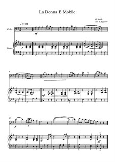 10 Easy Classical Pieces For Cello & Piano Vol.3: La Donna E Mobile by Edward MacDowell, Johann Strauss (Sohn), Johannes Brahms, Georg Friedrich Händel, Felix Mendelssohn-Bartholdy, Robert Schumann, Muzio Clementi, Giuseppe Verdi, Anton Rubinstein, Johan Halvorsen