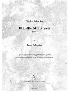 10 Little Miniatures, Op.122: set completo by Jamal Zohourian