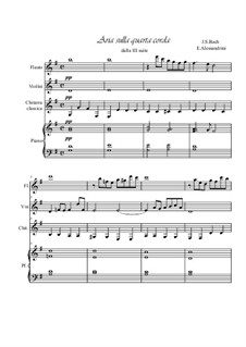 Aria: For quartet by Johann Sebastian Bach