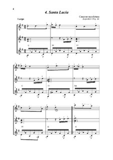 Santa Lucia: For trio guitars by folklore