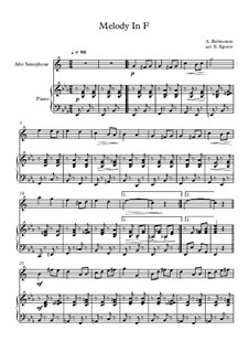 10 Easy Classical Pieces For Alto Saxophone & Piano Vol.3: Melody In F by Edward MacDowell, Johann Strauss (Sohn), Johannes Brahms, Georg Friedrich Händel, Felix Mendelssohn-Bartholdy, Robert Schumann, Muzio Clementi, Giuseppe Verdi, Anton Rubinstein, Johan Halvorsen