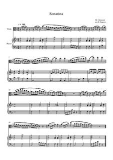 10 Easy Classical Pieces For Viola & Piano Vol.3: Sonatina (In C Major) by Edward MacDowell, Johann Strauss (Sohn), Johannes Brahms, Georg Friedrich Händel, Felix Mendelssohn-Bartholdy, Robert Schumann, Muzio Clementi, Giuseppe Verdi, Anton Rubinstein, Johan Halvorsen