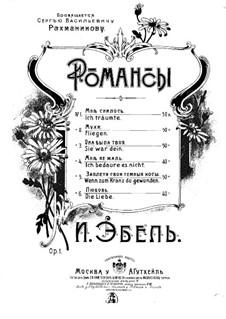Romanzen, Op.1: Nr.1 Ich träumte by Heinrich Karl Ebell