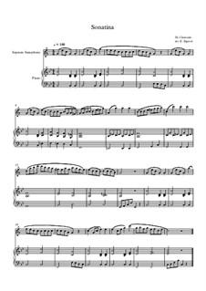 10 Easy Classical Pieces For Soprano Saxophone & Piano Vol.3: Sonatina (In C Major) by Edward MacDowell, Johann Strauss (Sohn), Johannes Brahms, Georg Friedrich Händel, Felix Mendelssohn-Bartholdy, Robert Schumann, Muzio Clementi, Giuseppe Verdi, Anton Rubinstein, Johan Halvorsen
