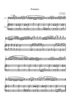 10 Easy Classical Pieces For Cello & Piano Vol.3: Sonatina (In C Major) by Edward MacDowell, Johann Strauss (Sohn), Johannes Brahms, Georg Friedrich Händel, Felix Mendelssohn-Bartholdy, Robert Schumann, Muzio Clementi, Giuseppe Verdi, Anton Rubinstein, Johan Halvorsen