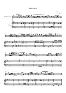 10 Easy Classical Pieces For Alto Saxophone & Piano Vol.3: Sonatina (In C Major) by Edward MacDowell, Johann Strauss (Sohn), Johannes Brahms, Georg Friedrich Händel, Felix Mendelssohn-Bartholdy, Robert Schumann, Muzio Clementi, Giuseppe Verdi, Anton Rubinstein, Johan Halvorsen