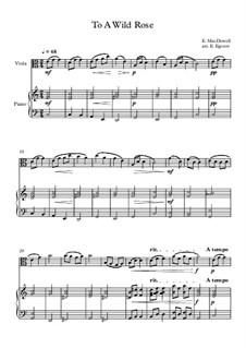 10 Easy Classical Pieces For Viola & Piano Vol.3: To A Wild Rose by Edward MacDowell, Johann Strauss (Sohn), Johannes Brahms, Georg Friedrich Händel, Felix Mendelssohn-Bartholdy, Robert Schumann, Muzio Clementi, Giuseppe Verdi, Anton Rubinstein, Johan Halvorsen