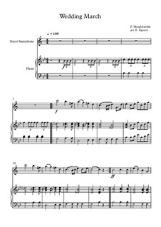 10 Easy Classical Pieces For Tenor Saxophone & Piano Vol.3: Wedding March by Edward MacDowell, Johann Strauss (Sohn), Johannes Brahms, Georg Friedrich Händel, Felix Mendelssohn-Bartholdy, Robert Schumann, Muzio Clementi, Giuseppe Verdi, Anton Rubinstein, Johan Halvorsen