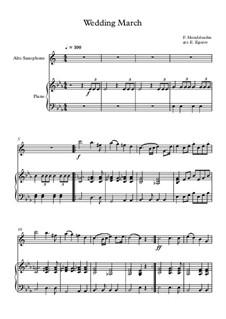 10 Easy Classical Pieces For Alto Saxophone & Piano Vol.3: Wedding March by Edward MacDowell, Johann Strauss (Sohn), Johannes Brahms, Georg Friedrich Händel, Felix Mendelssohn-Bartholdy, Robert Schumann, Muzio Clementi, Giuseppe Verdi, Anton Rubinstein, Johan Halvorsen