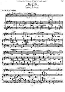 Night: Para voz e piano (primeira edição) by Modest Mussorgsky