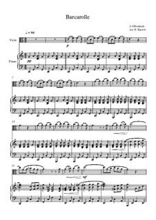 10 Easy Classical Pieces For Viola & Piano Vol.4: Barcarolle by Johann Sebastian Bach, Tomaso Albinoni, Joseph Haydn, Wolfgang Amadeus Mozart, Franz Schubert, Jacques Offenbach, Richard Wagner, Giacomo Puccini, folklore