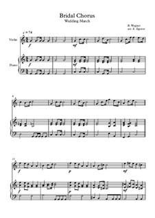 10 Easy Classical Pieces For Violin & Piano Vol.4: Bridal Chorus (Wedding March) by Johann Sebastian Bach, Tomaso Albinoni, Joseph Haydn, Wolfgang Amadeus Mozart, Franz Schubert, Jacques Offenbach, Richard Wagner, Giacomo Puccini, folklore