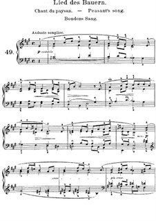 Lyric Pieces, Op.65: No.2 Peasant's Song by Edvard Grieg