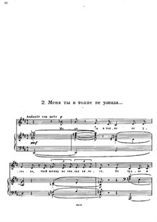 Sunless (Without Sun): No.2 You did not Know Me in the Crowd by Modest Mussorgsky
