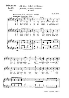 Twelve Poems for Voice and Piano, Op.37: Nr.10 O Sonn', o Meer, o Rose by Robert Schumann