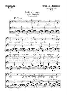 Complete set: gravação piano-vocal (texto alemão e francês) by Robert Schumann