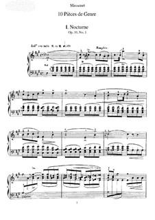 Dix pièces de genre, Op.10: set completo by Jules Massenet