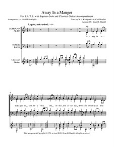 Away in a Manger: For mixed choir and guitar by William (James) Kirkpatrick